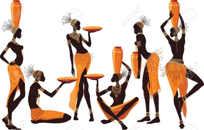 18733444-African-women-isolated-over-white-background-Stock-Vector-african-art-africa