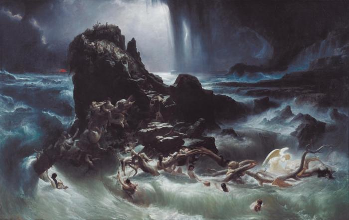 The Deluge exhibited 1840 by Francis Danby 1793-1861