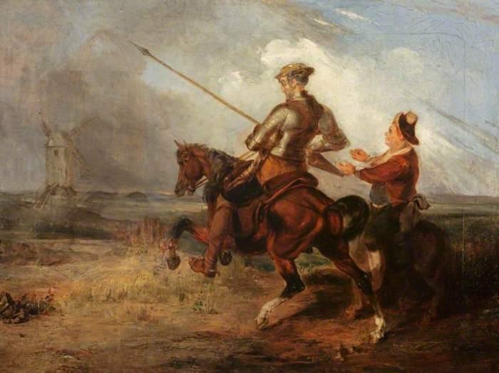 Watson, William Stewart, 1800-1870; Don Quixote Tilting at a Windmill